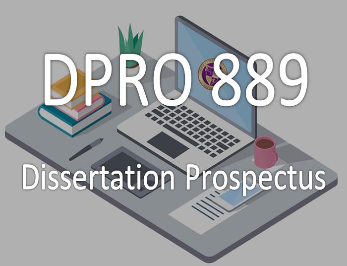 Dissertation prospectus education